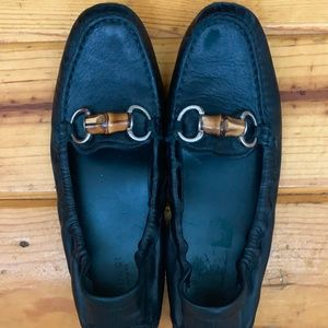 Gucci Shoes - Gucci Bamboo Horsebit Driver Loafer Black - Size 8